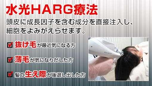薄毛HARG治療お求めやすい1回あたり5万円